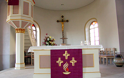 Kirche St. Martin zu Unteraltenbernheim Innenansicht