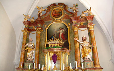 Kirche St. Peter und Paul in Unteraltenbernheim Innenansicht
